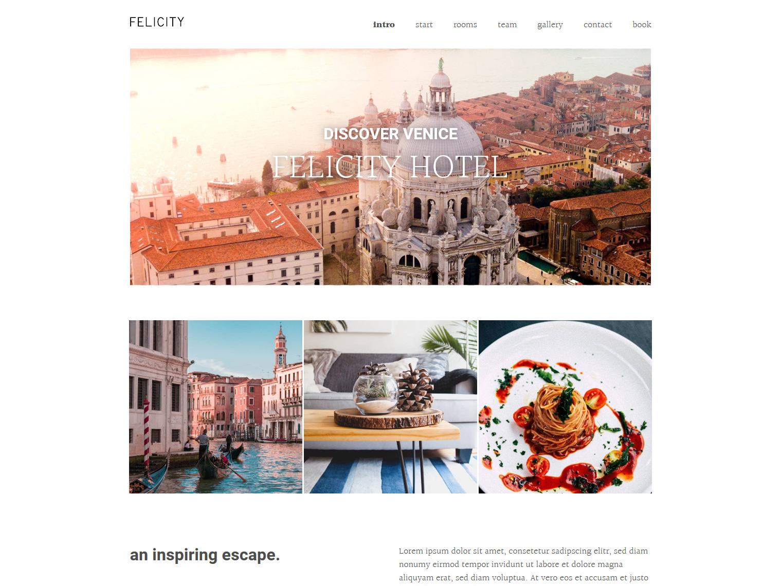 Website-Vorschau »Landingpage« des Templates »Felicity Pro«