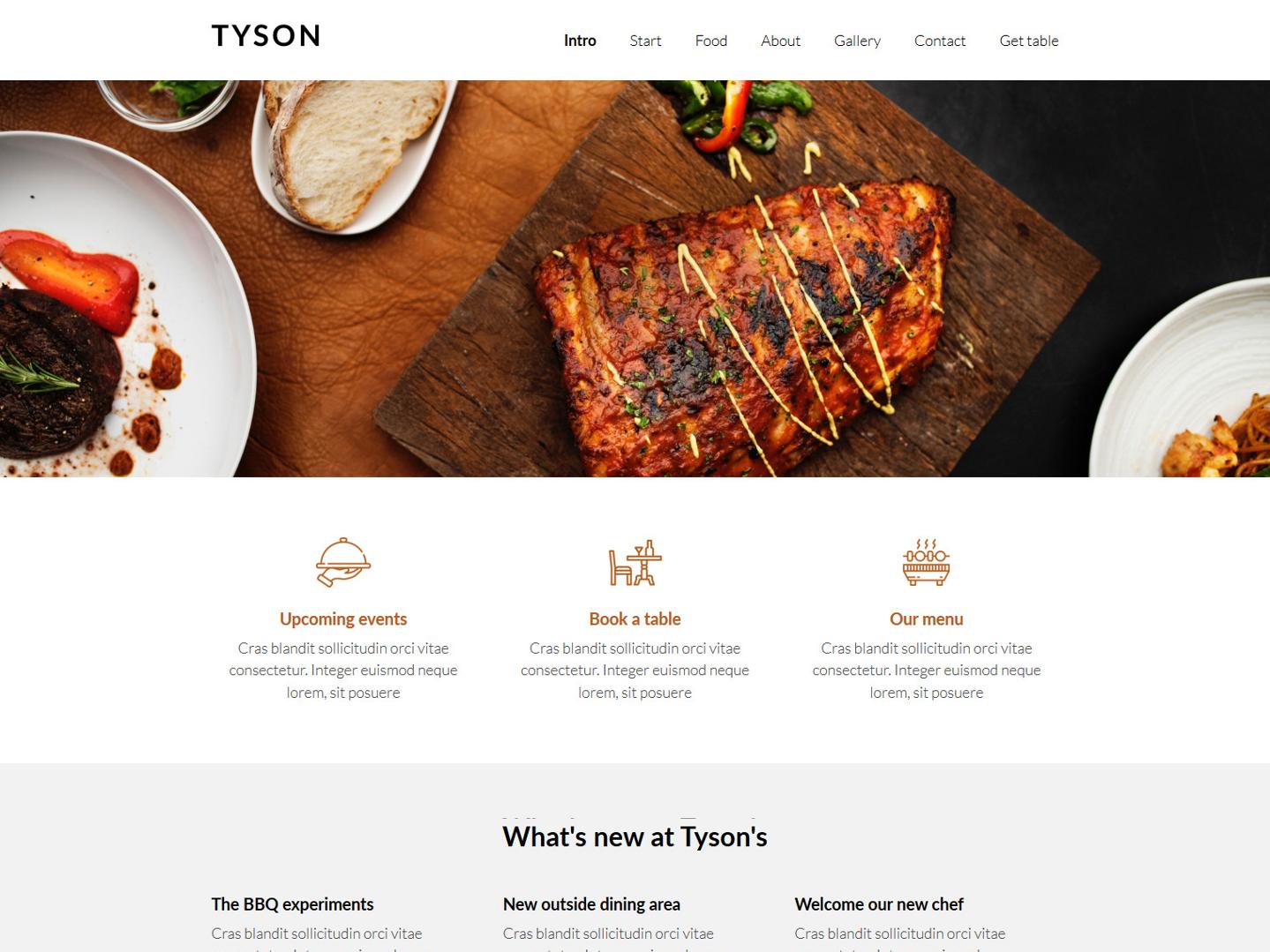 Website-Vorschau »Landingpage« des Templates »Tyson Pro«